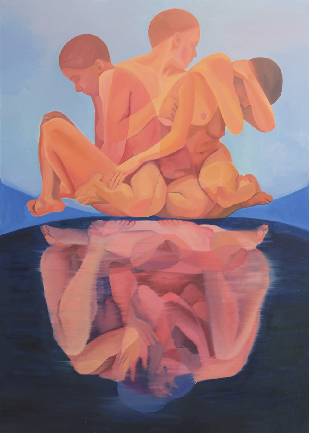 Upside down, 100×140, oil on canvas, 2018